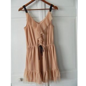 Xhilaration | Blush Dress with Ruffles